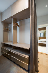 Modern dressing room interior