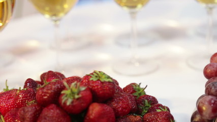 Fruit and sparkling wine