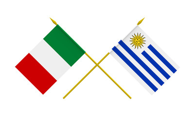 Flags, Italy and Uruguay