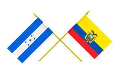 Flags, Honduras and Ecuador