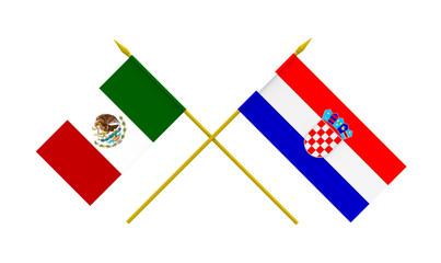 Flags, Croatia and Mexico