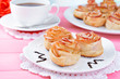 Tasty  puff pastry with apple shaped roses