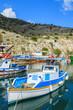 Fishing boats in a port in Greece