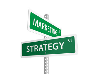 MARKETING STRATEGY signs (planning decision-making leadership)