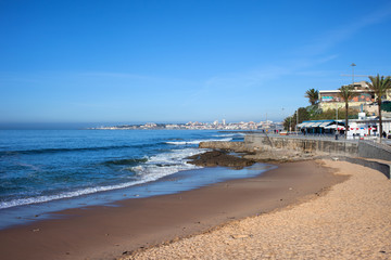 Beach and Atlantic Ocean in Estoril