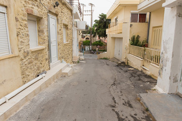 Ancient Street, Heraklion, Crete, Greece.