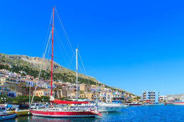 A view of a port in Kalymnos, Greece