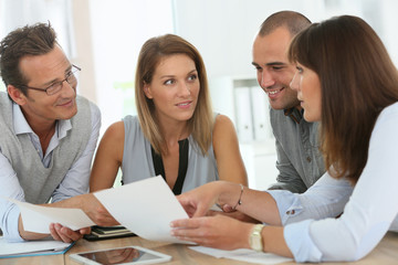 Group of business people meeting in office