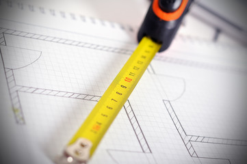 Rolls and blueprint
