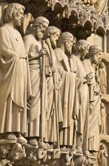 Paris, Notre-Dame cathedral, detail of central portal