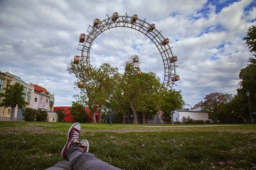 Relaxing at Prater in Vienna
