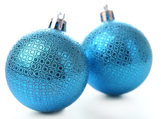 Christmas balls, isolated on white