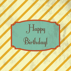 retro birthday greeting card design