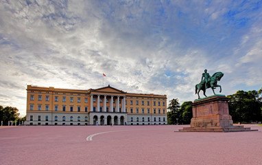 Royal Palace (Slottet) in Oslo,  Norway