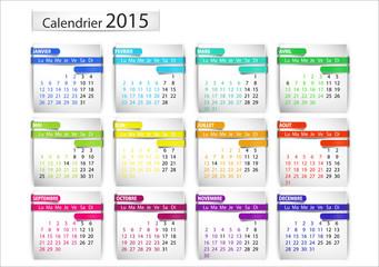 calendrier 2015 (horizontal) ruban 3d