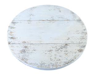 Wooden tray isolated on white