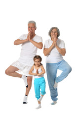 Grandparents with little girl