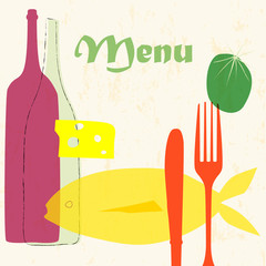 menu card design template for restaurant