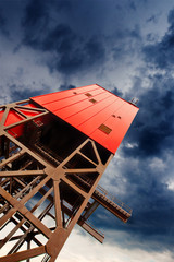mine shaft tower