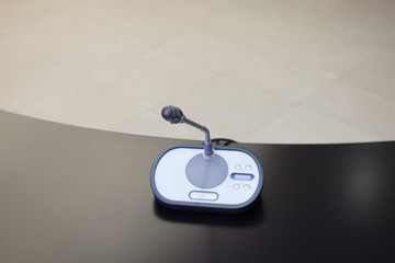 microphone at conference table