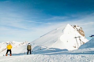 The mount titlis in Swiss