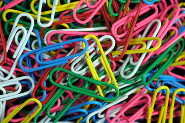 Colorful paper clip set