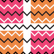 Orange pink chevron seamless pattern
