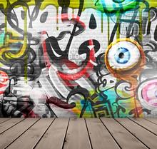 Graffitis sur mur