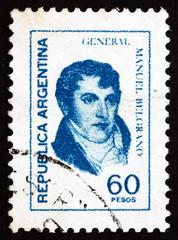 Postage stamp Argentina 1977 Manuel Belgrano