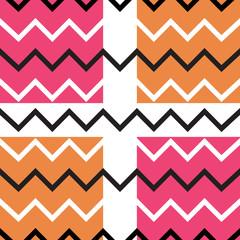 Orange pink chevron seamless pattern