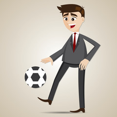 cartoon businessman bouncing ball