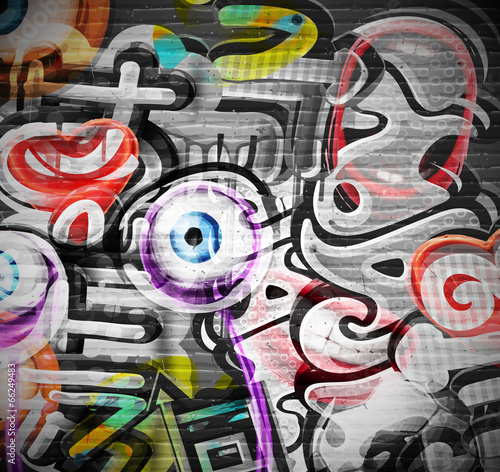 mata magnetyczna Graffiti w tle