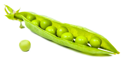 pea pods and grains