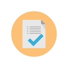 Document tick - Vector icon