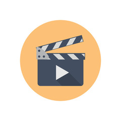 Clapboard - Vector icon