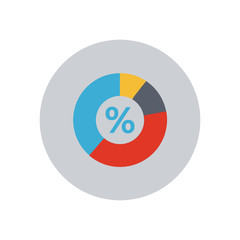 Percent Pie Chart - Vector icon
