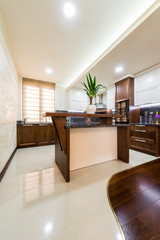 Work surfaces in the kitchen