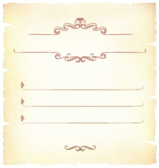 The Pleasant vintage background with decorative elements