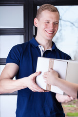 Man receiving a package