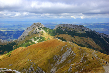 Giewont, landscape od Tatras Mountain in Poland