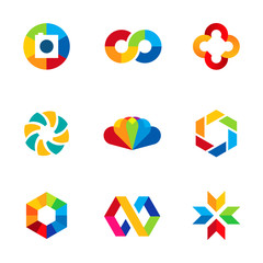 Color capture imagination education share community logo icon