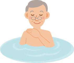 シニア男性 入浴