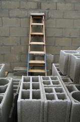 chantier - construction en bloc béton