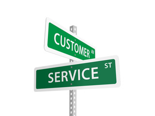 CUSTOMER SERVICE street signs (feedback consumer excellence)