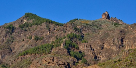 Natural landscape of Gran canaria