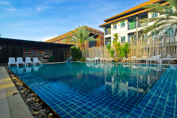 Swimming pool on early morning