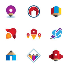 Go - live - explore - conquer digital new business logo icon