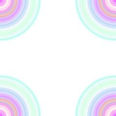 パステルカラーの半円のフレーム
