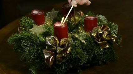 2.Advent, anzünden des Adventskranzes