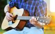 Playing guitar C chord